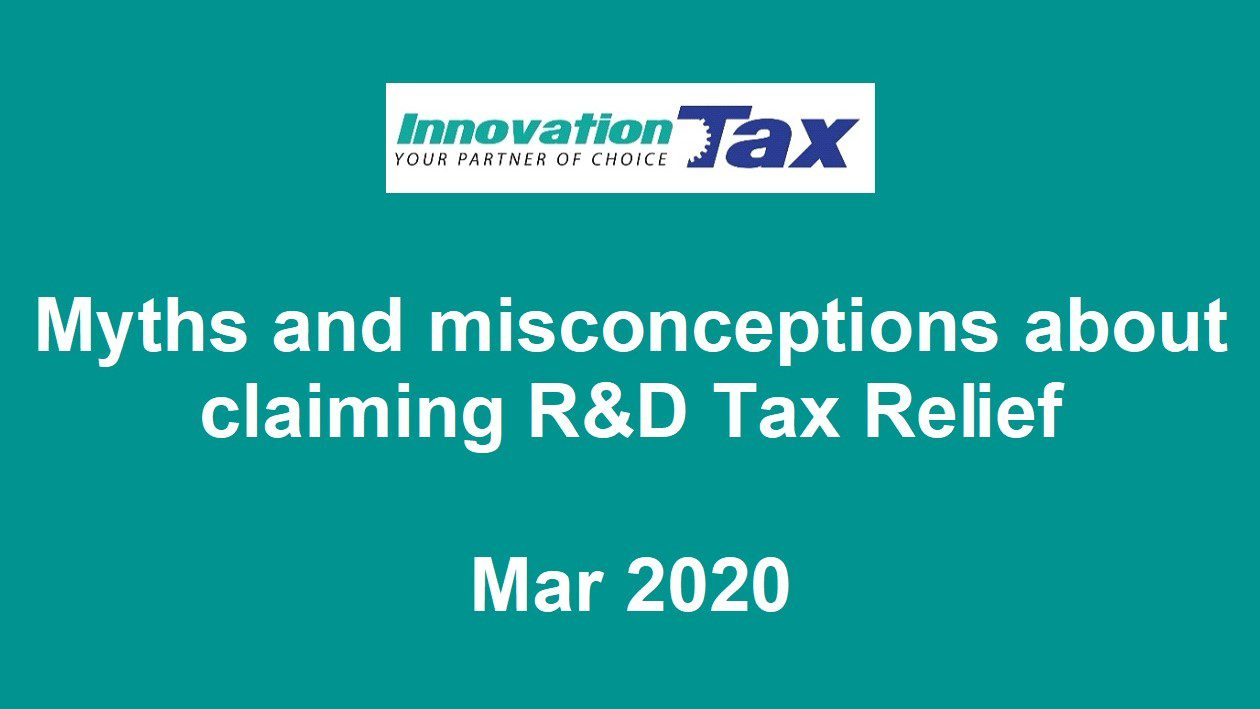 Myths and misconceptions about claiming R&D Tax Relief